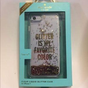 kate Spade iPhone 7 or 8 Plus case glitter